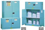 Justrite Blue Corrosive Safety Cabinet- 45 gallon