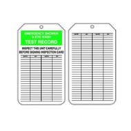 Emergency Eyewash-Shower Inspection Tag-Plastic -25/pkg