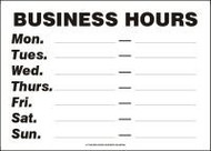 Business Hours Mon ___-___ Tues ___-___ Wed ___-___