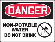 Danger - Danger Non-Potable Water Do Not Drink - Max Aluma-Wood - 48'' X 72''