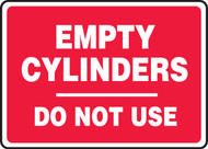 Empty Cylinders Do Not Use