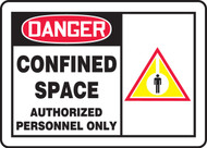 Danger - Confined Space Authorized Personnel Only Sign 1
