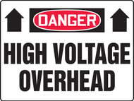 Danger - Danger High Voltage Overhead - Max Aluma-Wood - 36'' X 48''