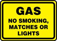 Gas No Smoking, Matches Or Lights