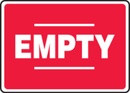 Empty Sign- Red White