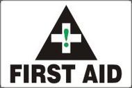 "First Aid Sign- Big Sign 36"" x 48"" Max Aluma Wood"
