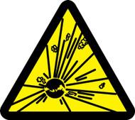 Explosives Hazard - ISO Warning Safety Sign- Plastic - 6''