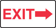 Exit (Arrow Right) - .040 Aluminum - 7'' X 14''