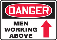 Danger - Men Working Above (Arrow) - Dura-Fiberglass - 10'' X 14''