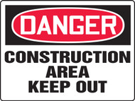 Danger - Danger Construction Area Keep Out - Max Aluma-Wood - 36'' X 48''