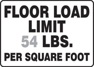 Floor Load Limit ____ Lbs. Per Square Foot