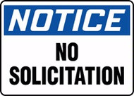 Notice- No Solicitation Sign
