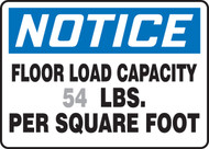 Notice - Floor Load Capacity ___ Lbs. Per Square Foot 1