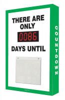 Countdown Scoreboard- Digi Day Number Display- Green-White