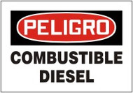 "Combustible Diesel Safety Sign 7"" X 10"""
