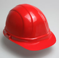 Hard Hat with Ratchet- Red Hard Hat