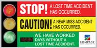 Signal Safety Scoreboard- LED-Lite- Digi Day Plus Counter  Accuform SCT329