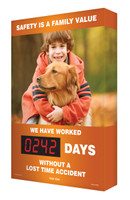 Digi Day Electronic Safety Scoreboards- Safety is A Family Value SCA242