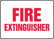 Fire Extinguisher - Re-Plastic - 7'' X 10''