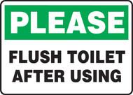Please Flush Toilet After Using - Aluma-Lite - 10'' X 14''