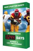 Digi Day Electronic Safety Scoreboard- Make A Play For Safety- Football Theme SCA244