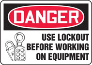Use Lockout Before Working On Equipment