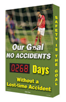 Digi Day Plus Electronic Safety Scoreboard For Outdoor Use Soccer SCM389