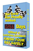 Digi Day Plus Safety Scoreboards for Outdoor Use- Racing Flags SCM388