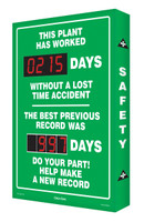 Safety Scoreboard Digi Day This Plant Has Worked #### Days Accuform SCA215
