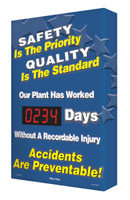 Safety Scoreboard Digi Day- Safety is The Priority/ Quality is The Standard Accuform SCA234