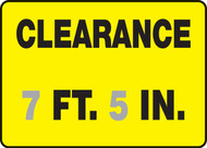 Clearance ___ Ft. ___ In.