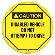Steering Wheel Message Cover- Disabled Vehicle Do Not Attempt to Drive 20""