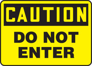 Caution - Do Not Enter