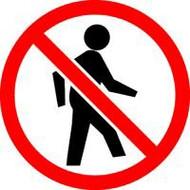 No Pedestrians ISO Symbol