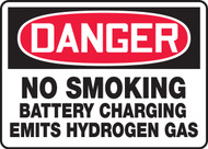 Danger - No Smoking Battery Charging Emits Hydrogen Gas