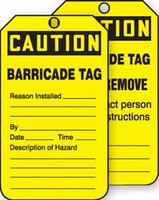 Barricade Tag- Status Alert Tag
