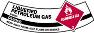 Petroleum Gases, Liquid Flammable Gas Danger Keep Away From Heat, Flame Or Sparks