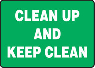 Clean Up And Keep Clean
