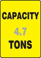 Capacity ___ Tons ___ - Aluma-Lite - 14'' X 10''