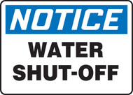 Notice - Water Shut Off