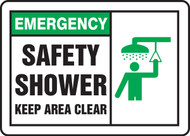 Safety Shower Keep Area Clear Sign 1