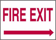 Fire Exit Sign Arrow Right