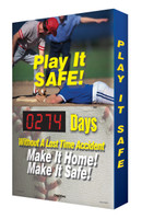 Digi Day Safety Scoreboard with Visual Edge- Play It Safe! Baseball SCA274