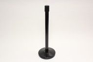 Receiver Post for Blockade Retractable Belt Tape Barriers- Receiver Post ONLY (Black)