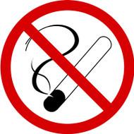 ISO Prohibition Safety Sign- No Smoking Sign - .040 Aluminum - 6''