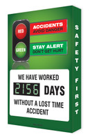 Digi Day 2 Electronic Safety Scoreboard- We Have Worked #### Days SCG156