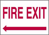 Fire Exit Sign with Arrow Left