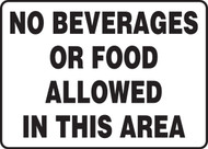 No Beverages Or Food Allowed In This Area