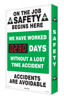 Safety Scoreboard- Digi Day- On The Job Safety | Accuform SCA230