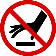 ISO Prohibition Safety Sign- Do Not Touch Surface - Adhesive Vinyl - 6''